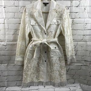 Christine Phillipe lace trench coat